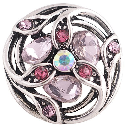 Bling Chunk - Snap Charm Lavender Pink Stones 20mm, 3/4