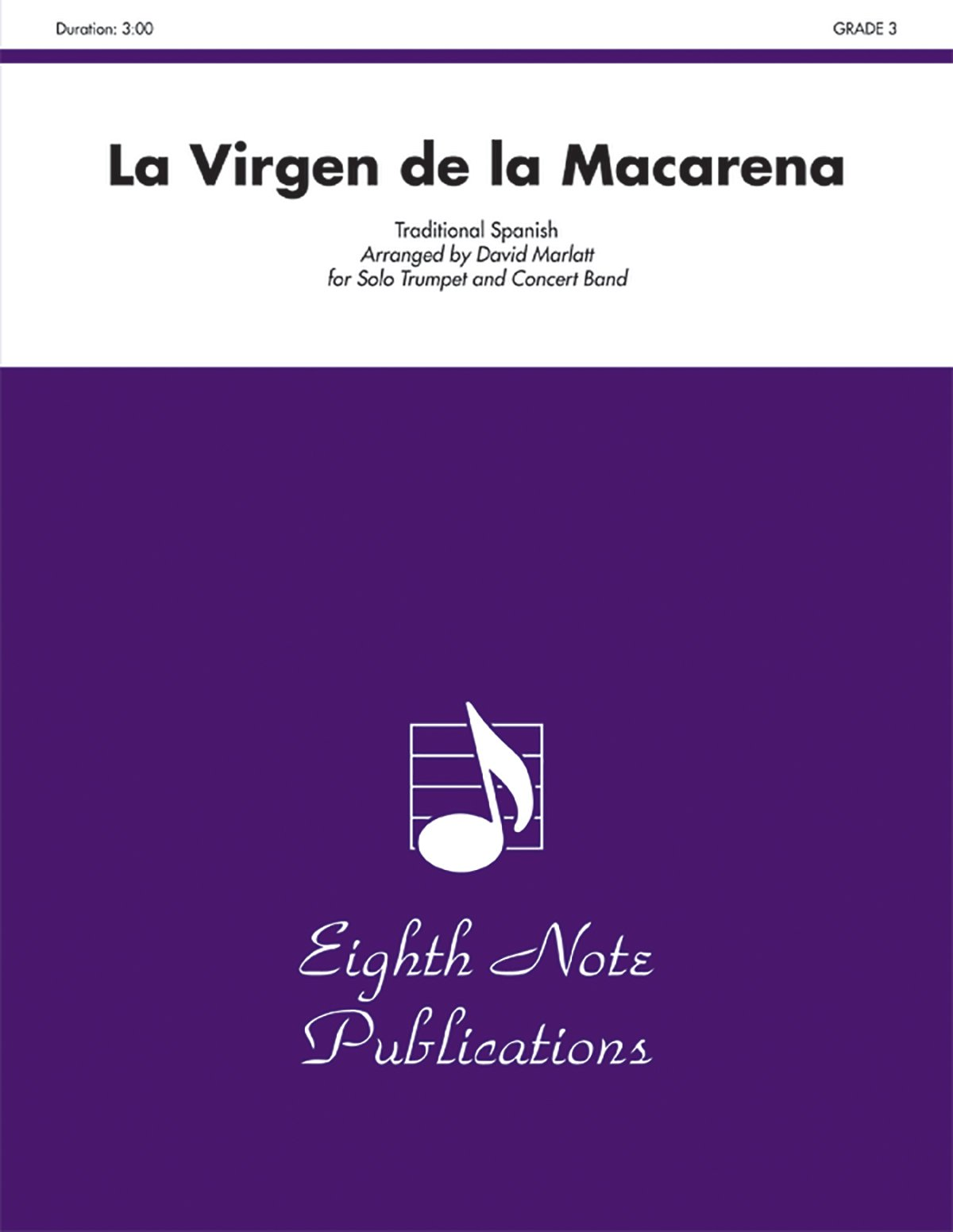 Amazon com: La Virgen de la Macarena: Solo Trumpet and Concert Band