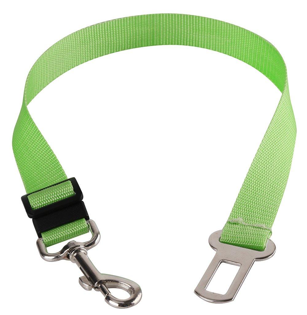 Walgap(tm) Car Vehicle Auto Safety Seat Belt for Dog Pet (7 Color) (Green)