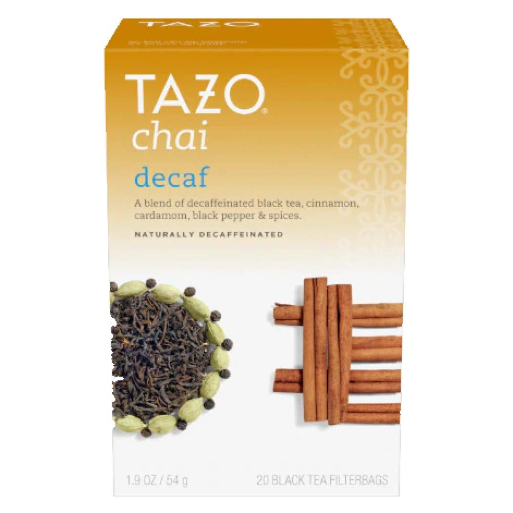 Tazo Decaffeinated Chai Tea, 32-ounce Cans (Case of 6) by TAZO