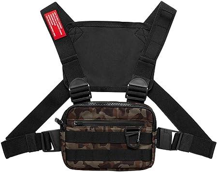 Balight 1PCS Men Tactical Waist Bag Tactical Vest Chest Pack Hip Hop Function Chest Rig Pack 3 Colores: Amazon.es: Deportes y aire libre