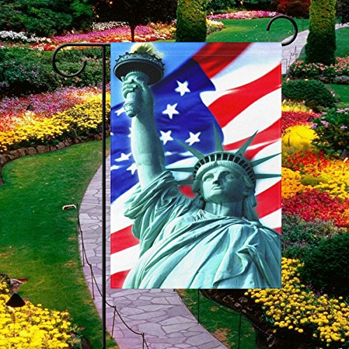 Vipsk Garden Flag Set with American Flag, Weatherproof 2 Sided 12x18 Inch