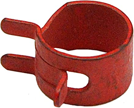 """100  1//2/"""" Spring Action Hose Clamps Red"""