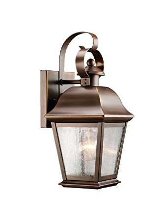 Kichler Lighting 9707OZ Mount Vernon 1 Light Outdoor Wall Mount Lantern,  Olde Bronze With