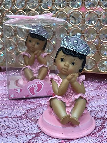 Ethnic Baby Girl Princess Baby Shower Or 1st Birthday Cake Topper Or Party Favor Keepsake