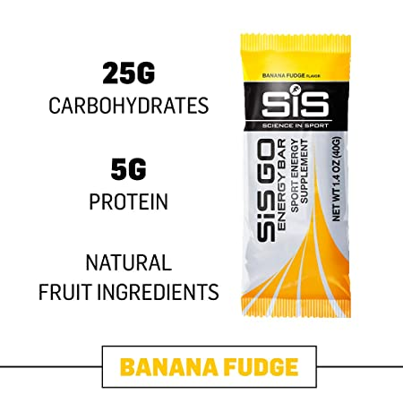 Science in Sport Go Energy bar Banana Fudge Flavor – Carbohydrate Endurance Snack Bars – 20 Bars