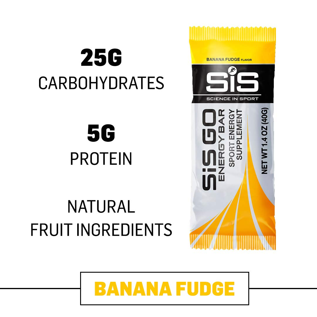 Science in Sport Go Energy bar Banana Fudge Flavor - Carbohydrate Endurance Snack Bars - 20 Bars