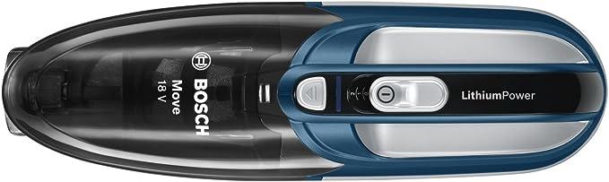 Bosch BHN1840L Move Lithium Aspirador de mano, 0.4 litros, color azul y plata: Amazon.es: Hogar