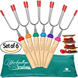 CARPATHEN Marshmallow Roasting Sticks - set of 6 Telescopic...
