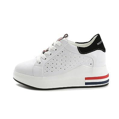 ohne Markenname Sportliche Damen Plateau Sneaker-Wedges Low-Top Sneakers Keilabsatz 6zrgXEA