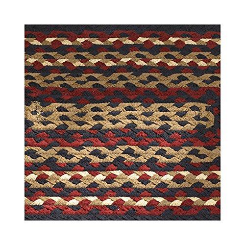 "Folk Art Style Braided Rug Runner, 30"" X 72"""