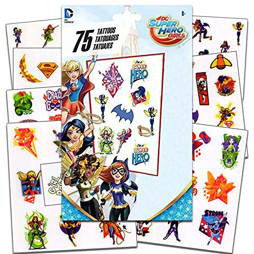 DC Super Hero Girls - 75 Assorted Temporary Tattoos -