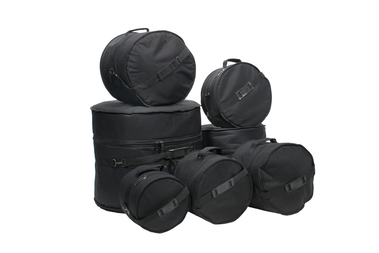 XSPRO 7 Piece Deluxe Padded Drum Bag Set for DW Pacific X7 & Concept Series