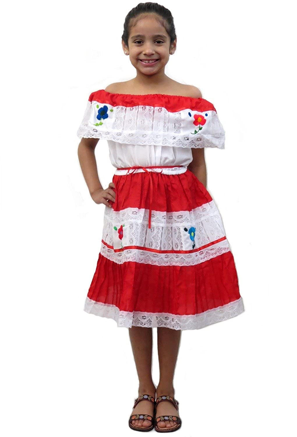 170e7d983d Top1  Ethnic Identity Leos Imports (Tm) Mexican Flor Dress for Girls
