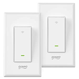3-Way Smart Light Switch, Gosund WiFi Smart Switch for Light Fan Compatible with Alexa, Google Assistant, Neutral Wire Required, Remote Control, ETL and FCC Listed,2 Pack