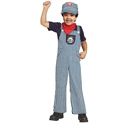 Kids Ryan's World Sound FX Train Engineer Costume: Clothing