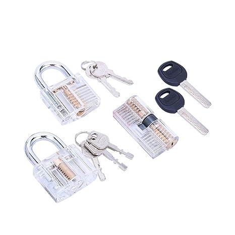 Set de cerradura de práctica IMABAO cristal visible Cutaway común cerradura tipos para cerrajero entrenamiento diferentes
