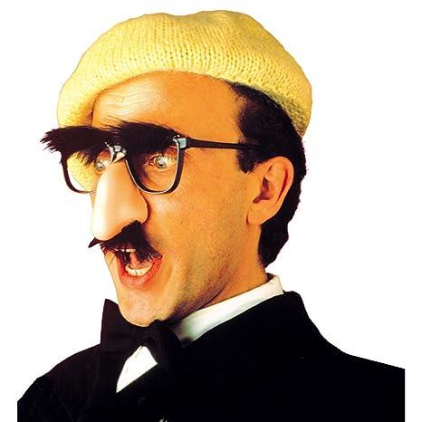 NET TOYS Lunettes avec nez et barbe Groucho nez à lunette masque noir et  couleur chair 1d9f3f710d81