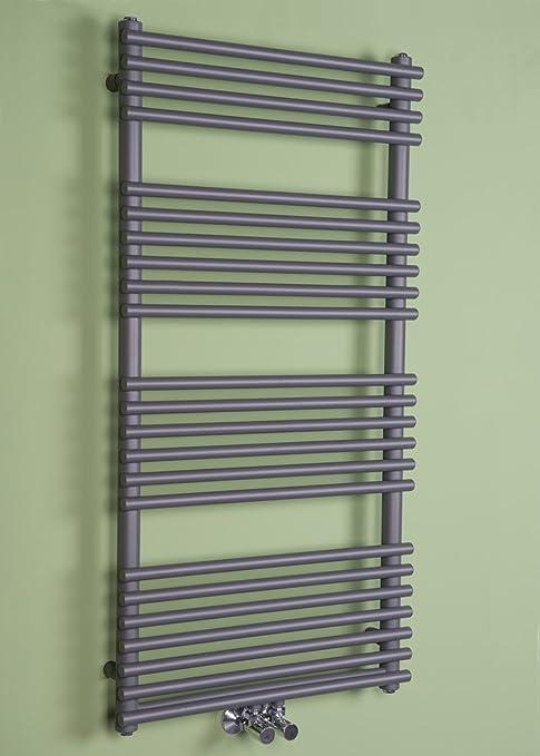 Toallero calefactor calefacción baño puerta toallas diseño moderno 1180 x 600 mm – GRIS