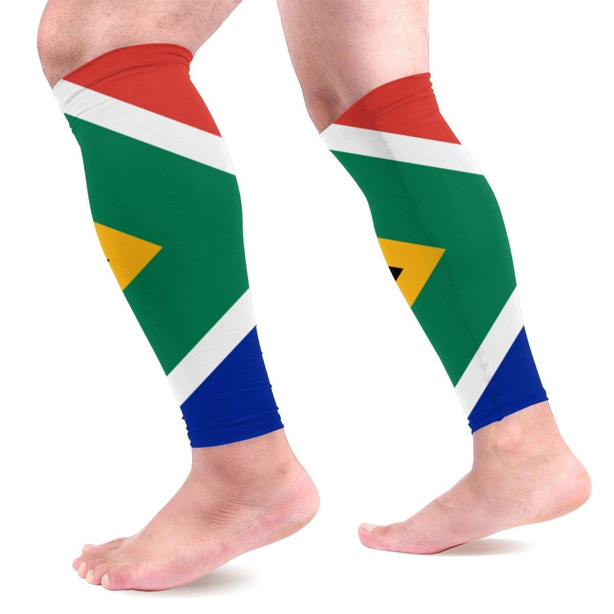 nxnx South-African-Flag Sports Compression Calf Sleeve Men and Women Relieve Pain Calf Sleeve Movement Recovery Sleeve Pair