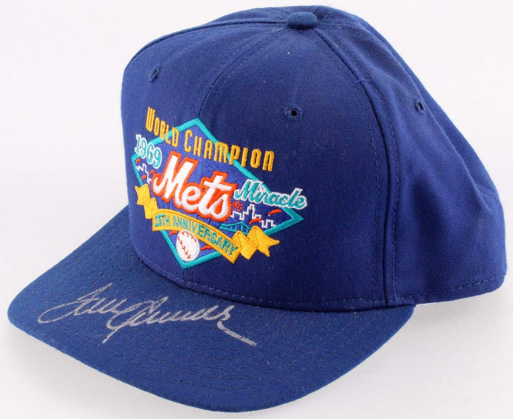 Tom Seaver Autographed Signed 25Th Anniversary 1969 Miracle Mets New Era Hat JSA Certified