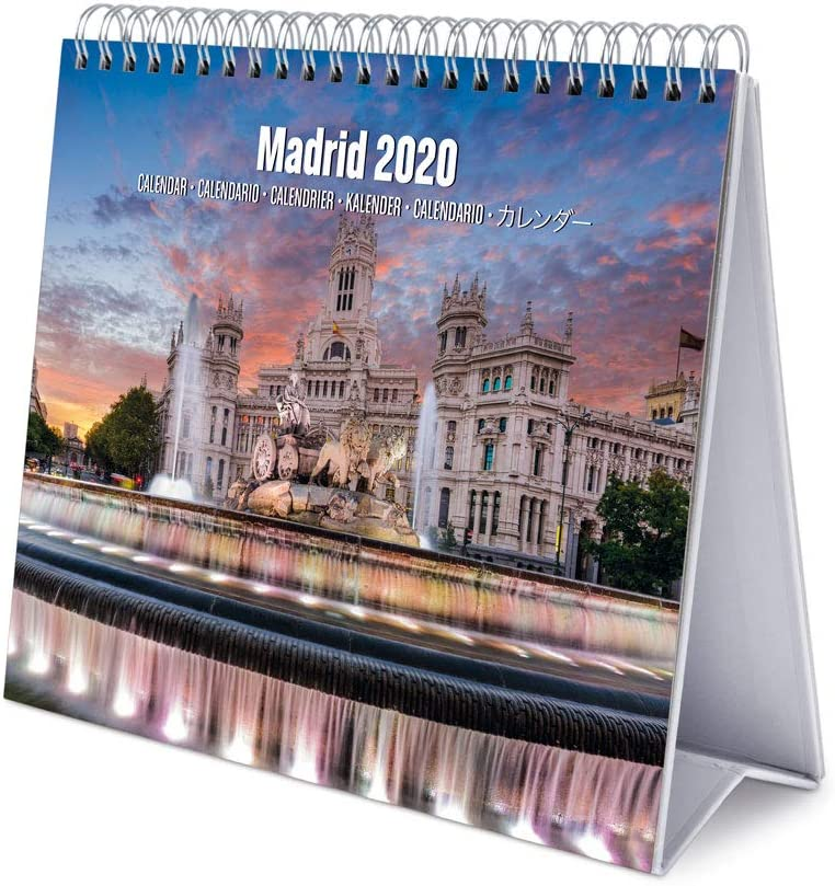 Erik, Calendario de Escritorio Deluxe 2020 Madrid, 17x20 cm