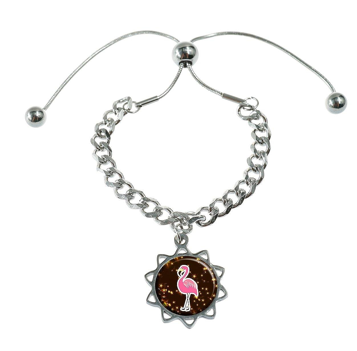 Amazon com onebee beautiful flamingo stickers custom fashion design charm glass bracelet jewelry gift jewelry