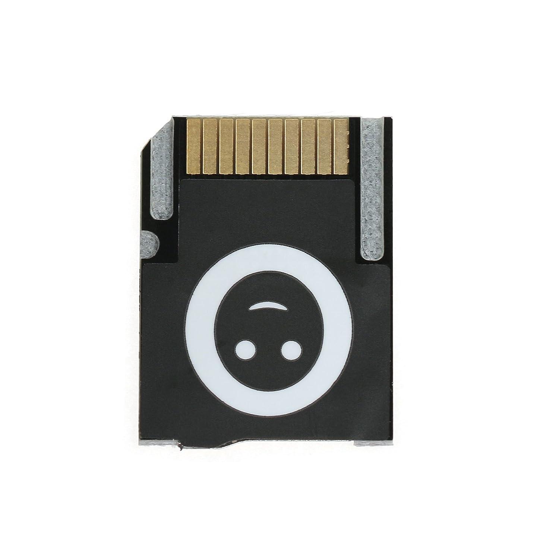 Black XBERSTAR New Version Push to Eject SD2VITA PSVSD Micro SD Adapter for PS Vita Henkaku 3.60