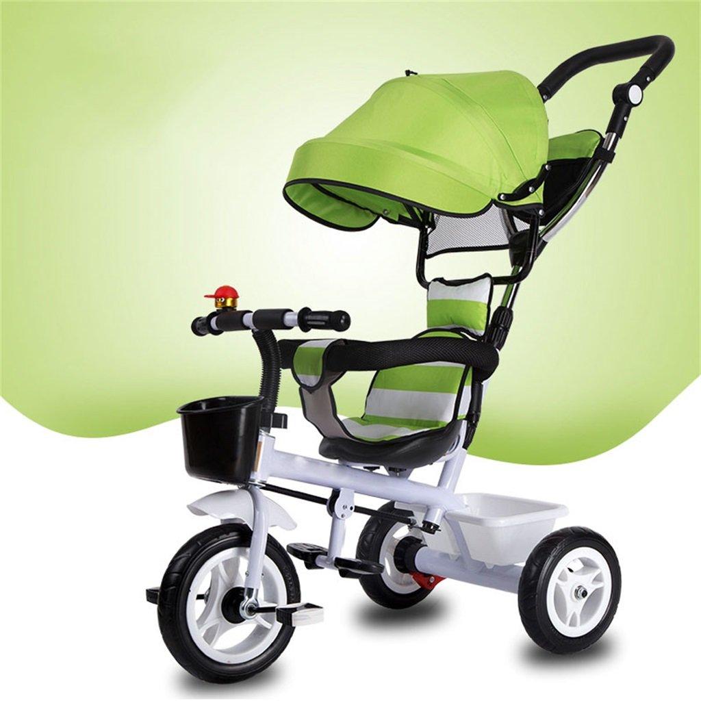 KANGR-子ども用自転車 三輪車の赤ちゃんキャリッジバイク子供のおもちゃの車のインフレータブルホイール/泡ホイールの自転車3つの車輪、緑のバイク(少年/少女、1-3-5歳) ( 色 : A type ) B07BTY5HLLA type