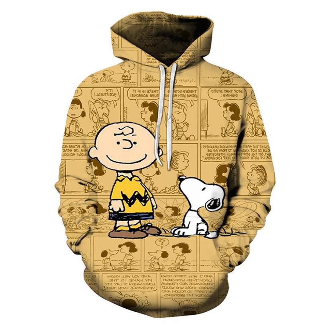 A-ZIPWPORD Yellow 3D Print Cute Dog SweatshirtWinter O-Neck Pullover Coat