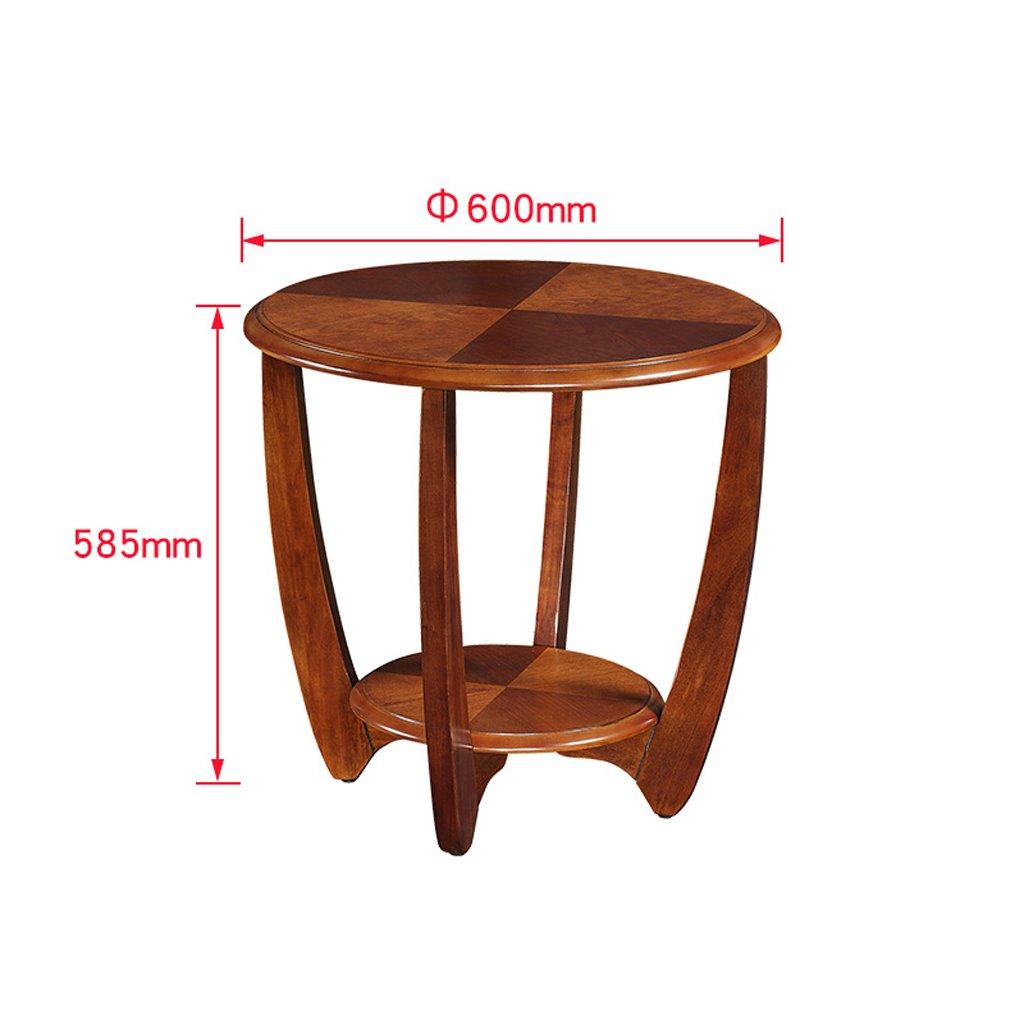 Meiling divano pochi Side Corner poche in legno massiccio soggiorno tavolino da salotto semplice tavolino tondo da tavolo piccolo White