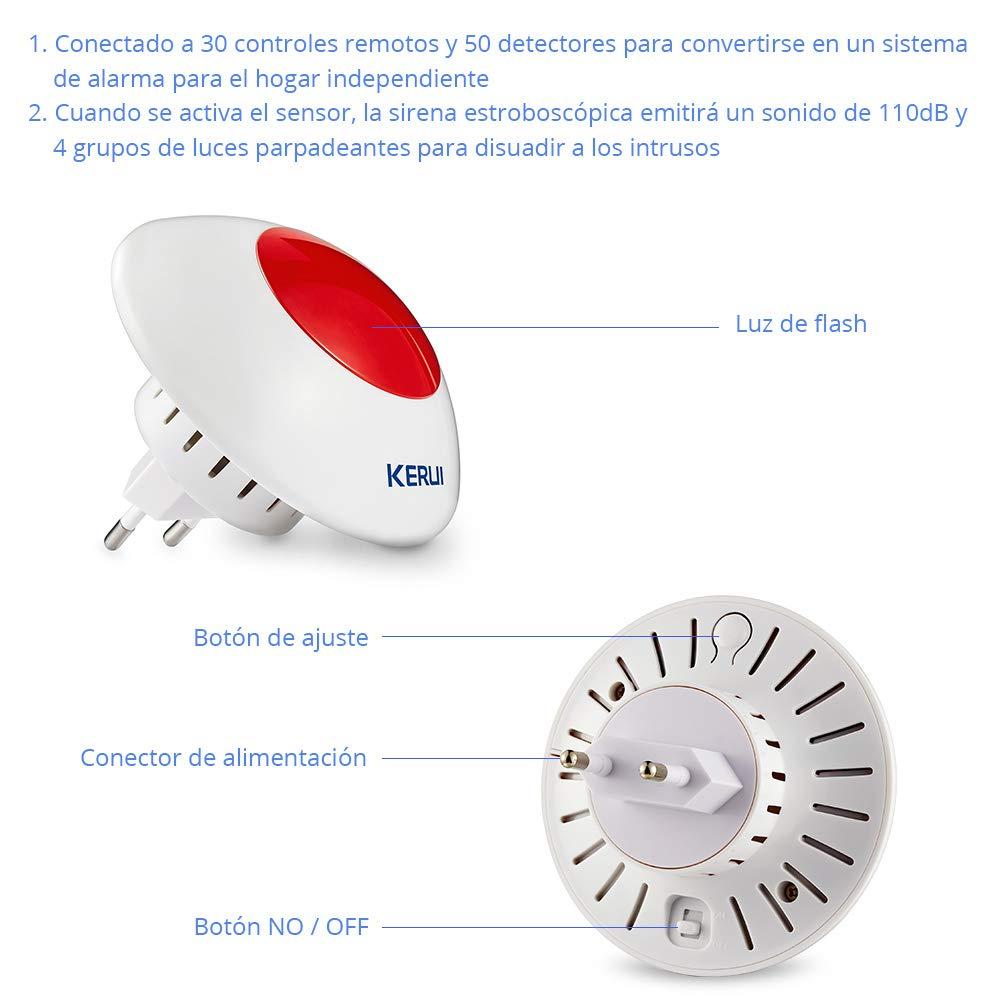 KERUI W2 WIFI/GSM/PSTN Control de Sistema de Alarma de Casa ...