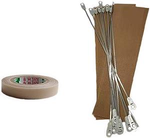 Inavis 8 inch Impulse Sealer Repair Kit Set of 10,PTFE tape & Heating Elements & Teflon Cloth Strips