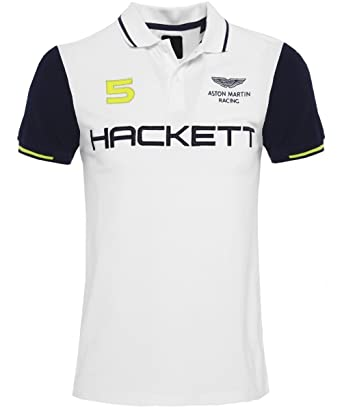 Hackett Hombres Slim Fit Aston Martin Racing alas camisa de Polo ...