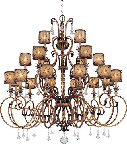 Aston Court One Light - Minka Lavery Crystal Chandelier Lighting 4759-206, Aston Court Candle, 3 Tier 21 Light, 1260 Watts, Bronze