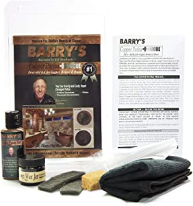 Barry's Restore It All Products - Copper Patina Rescue Homeowner Kit | The #1 ALL-IN-ONE Copper Patina Restoration KIT! Sinks, Hardware, Tables & Faucet Fixtures