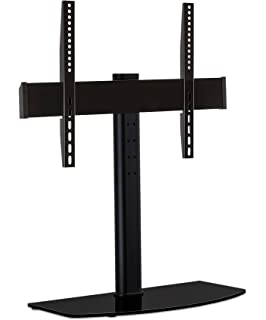 Mount It! Universal Tabletop TV Stand Mount And AV Media Glass Shelf, TV