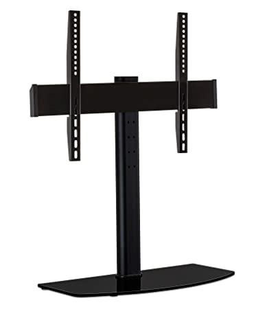 tv mount with shelf. mount-it! universal tabletop tv stand mount and av media glass shelf, tv with shelf