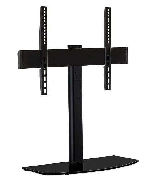 mountit universal tabletop tv stand mount and av media glass shelf tv