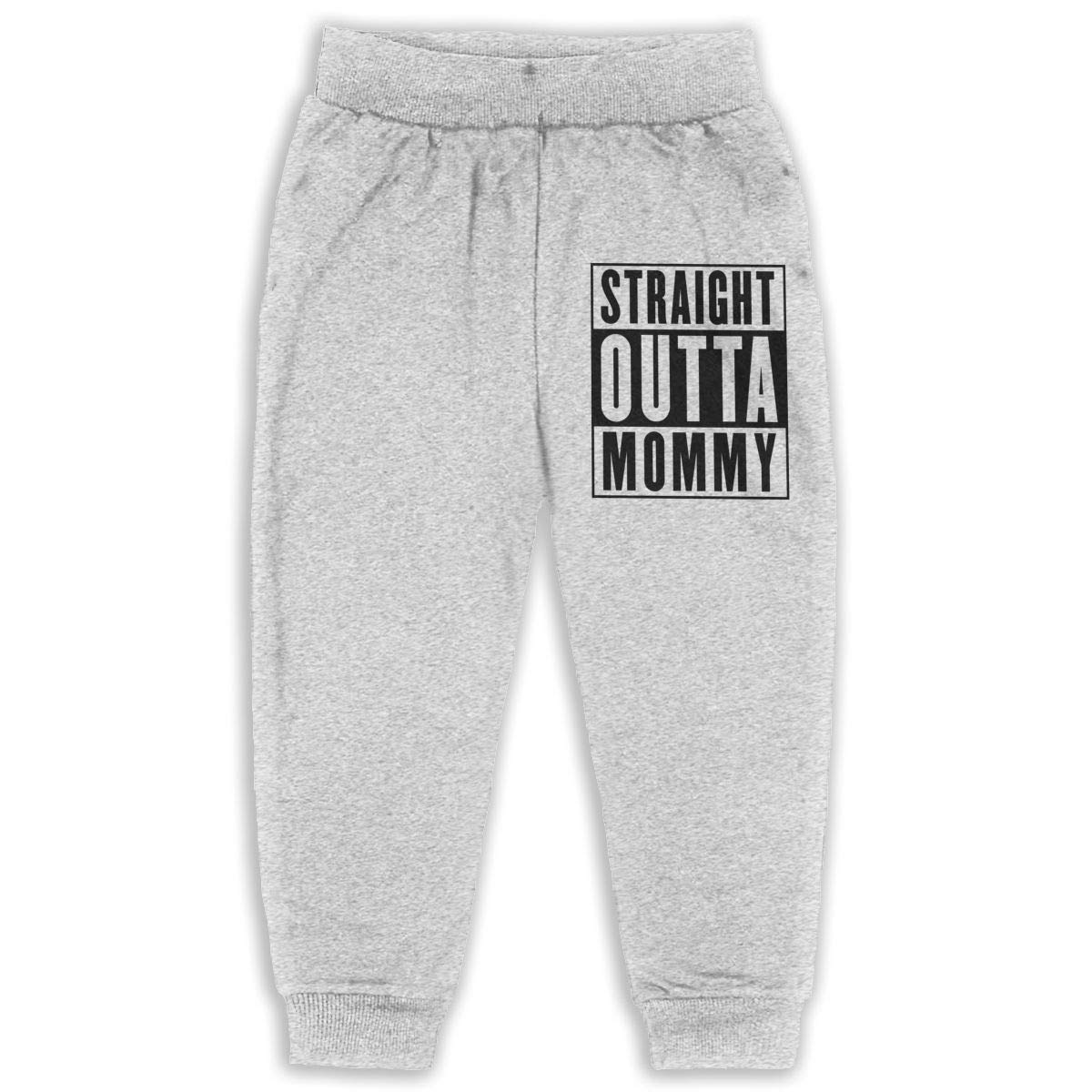 Cqelng Oii Straight Outta Mommy Truck 2-6T Boys Active Joggers Soft Pant