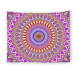 Home Living Room Bedroom Decorative Psychedelic Colorful Mandala Pattern Multipurpose Rectangle Wall Hanging Tapestry India Hippie TableCloth Bedspread Beach Towel Picnic Yoga Mats Blankets