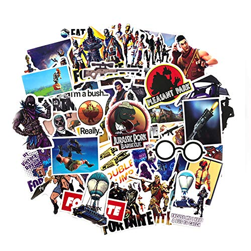 (Party Stickers USA 46pcs Gaming Stickers For Battle Royale Gamer Themed Party )