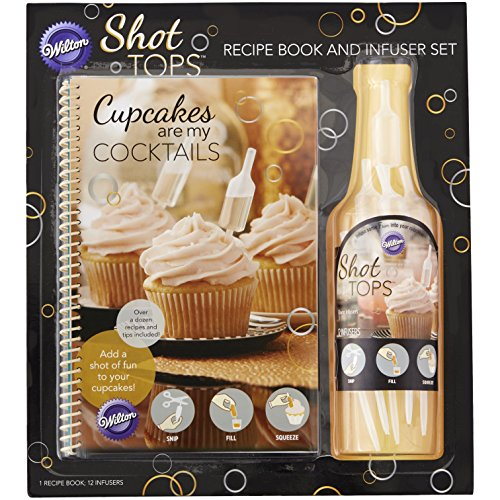 Wilton Recipe Book/Infuser Combo Pack, Multicolor Wilton Cupcake Recipe