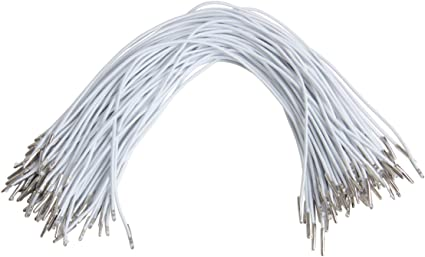 40m//Roll Round Elastic Cords Stretch String w// Metal Barbs Fastener Ends 2mm DIA