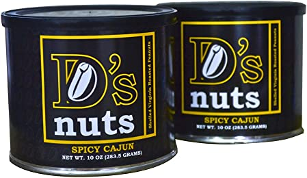D's nuts - SXL Shelled Gourmet Spicy Cajun Virginia Peanuts 1.25lbs