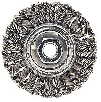 """Stainless Steel 4 Inch Twist Wire Wheel 4/"""" x 5//8-11/"""" Knot Wheel Wire Brush"""