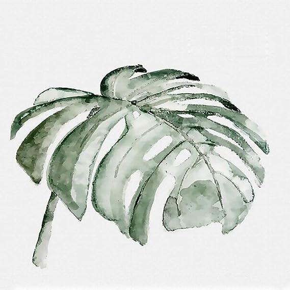 LiMengQi Arte de la Pared Pintura en Lienzo Verde pequeña Planta Fresca póster de Estilo nórdico e Imagen Impresa decoración Moderna del hogar (sin Marco) A4 20x30CM: Amazon.es: Hogar