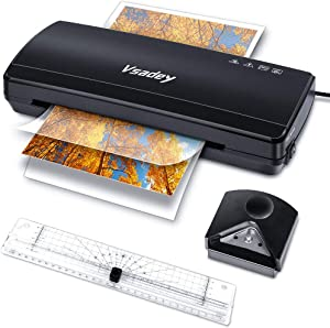 Laminator, Vsadey A4 Thermal Laminator Machine with 30 Laminating Pouches, 4 in 1 Hot Cold Personal Laminator with Paper Trimmer Corner Rounder for Home Use School Teacher Office Document, 9 Inches