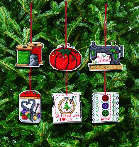 Janlynn Counted Cross Stitch Kit, Sewing Ornaments