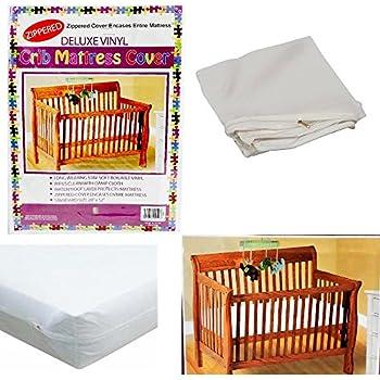 Amazon.com: Funda de colchón con cremallera para cuna, de ...